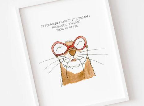 Otter Madness Print