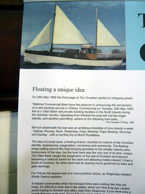 Otter Bank-story of--Orkney Historic Boat Society