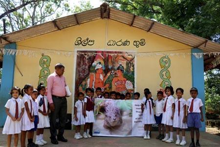 Chaminda at Sri Lanka primary school
